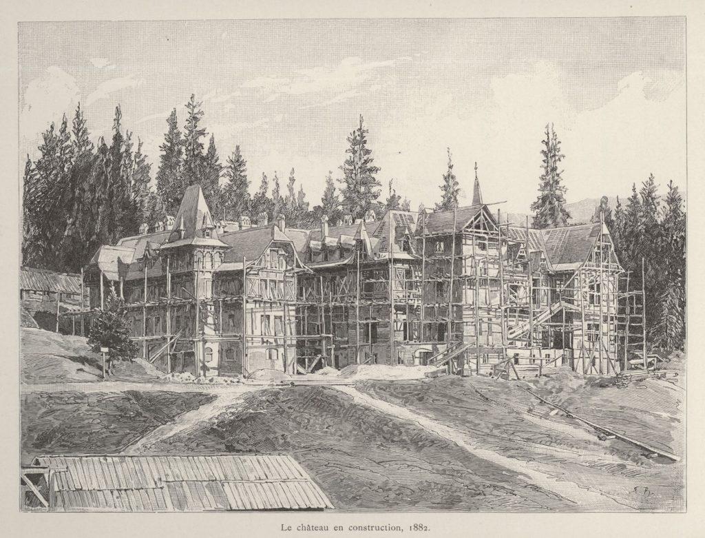 Castelul Peles in Constructie 1882